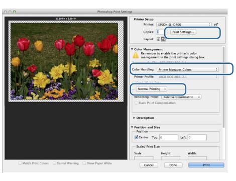 ustawienia profili icc w photoshopie dla mac